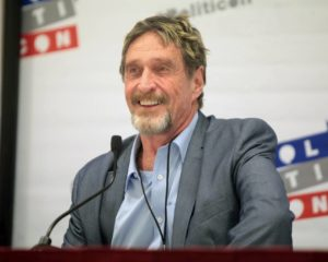 John McAfee Shills New Freedom Coin Ahead of Fall 2019 Launch
