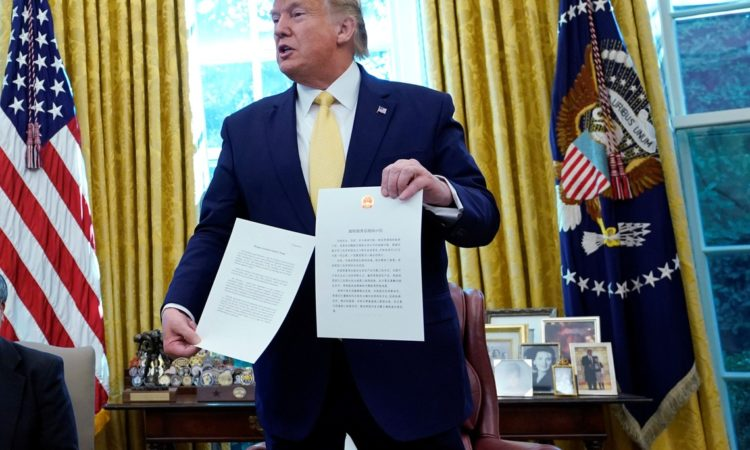 Trump Defends China Trade Pact as 'Greatest & Biggest Deal Ever'